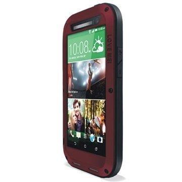 HTC One (M8) One (M8) Dual Sim Love Mei Powerful Hybrid Suojakuori Punainen
