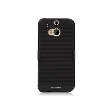 HTC One (M8) One (M8) Dual Sim Naztech DoubleUp Suojakotelo Musta