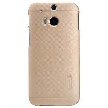 HTC One (M8) One (M8) Dual Sim Nillkin Super Frosted Shield Suojakotelo Kultainen