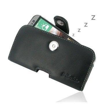 HTC One (M8) One (M8) Dual Sim PDair Vaakakotelo Nahka Musta