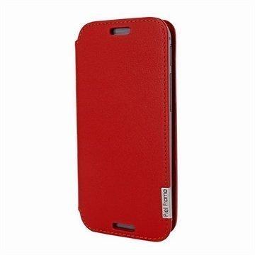 HTC One (M8) One (M8) Dual Sim Piel Frama FramaSlim Nahkakotelo Punainen