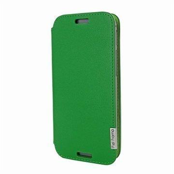 HTC One (M8) One (M8) Dual Sim Piel Frama FramaSlim Nahkakotelo Vihreä