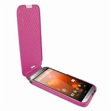 HTC One (M8) One (M8) Dual Sim Piel Frama Imagnum Nahkakotelo Fuksia