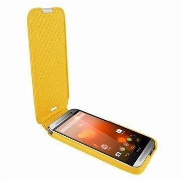 HTC One (M8) One (M8) Dual Sim Piel Frama Imagnum Nahkakotelo Keltainen