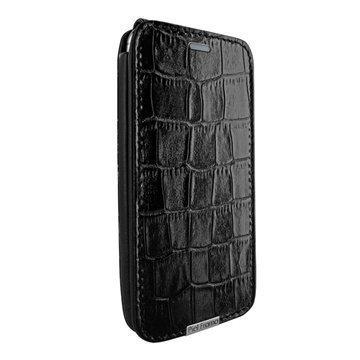 HTC One (M8) One (M8) Dual Sim Piel Frama Imagnum Nahkakotelo Krokotiili Musta