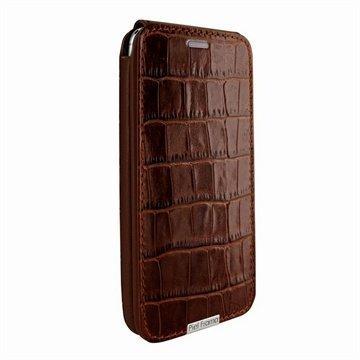 HTC One (M8) One (M8) Dual Sim Piel Frama Imagnum Nahkakotelo Krokotiili Ruskea