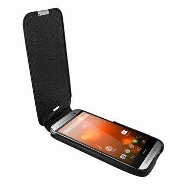 HTC One (M8) One (M8) Dual Sim Piel Frama Imagnum Nahkakotelo Musta