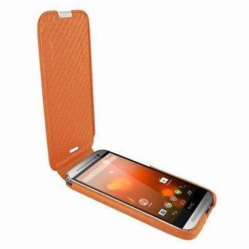 HTC One (M8) One (M8) Dual Sim Piel Frama Imagnum Nahkakotelo Oranssi