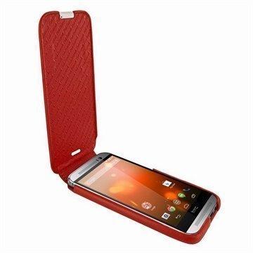 HTC One (M8) One (M8) Dual Sim Piel Frama Imagnum Nahkakotelo Punainen