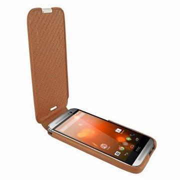 HTC One (M8) One (M8) Dual Sim Piel Frama Imagnum Nahkakotelo Ruskea