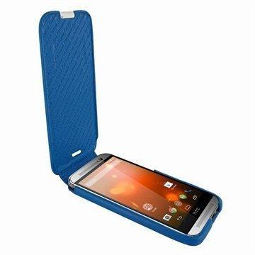 HTC One (M8) One (M8) Dual Sim Piel Frama Imagnum Nahkakotelo Tumman Sininen