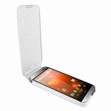 HTC One (M8) One (M8) Dual Sim Piel Frama Imagnum Nahkakotelo Valkoinen