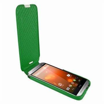 HTC One (M8) One (M8) Dual Sim Piel Frama Imagnum Nahkakotelo Vihreä