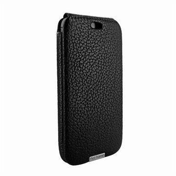 HTC One (M8) One (M8) Dual Sim Piel Frama iMagnum Nahkakotelo iForte Musta
