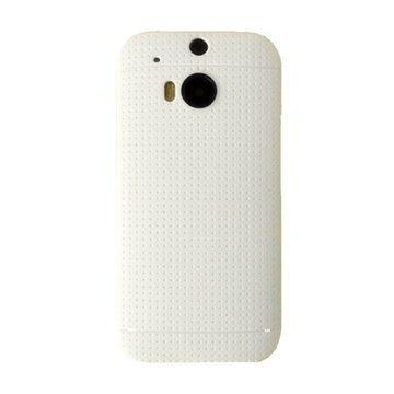 HTC One (M8) One (M8) Dual Sim Tuff-Luv Dimpled Silikonikotelo Valkoinen