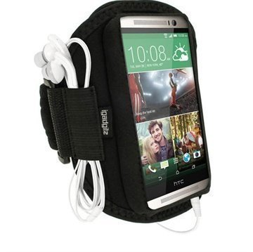 HTC One (M8) One (M8) Dual Sim iGadgitz Neoprene Sports Jogging Armband Black