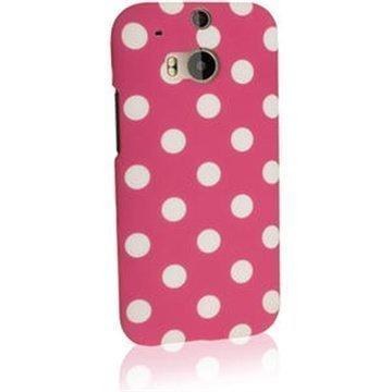 HTC One (M8) One (M8) Dual Sim iGadgitz Pallokuvio Kovakotelo Vaaleanpunainen / Valkoinen