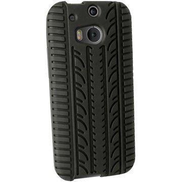 HTC One (M8) One (M8) Dual Sim iGadgitz Rengaskuvioitu Silikonikotelo Musta