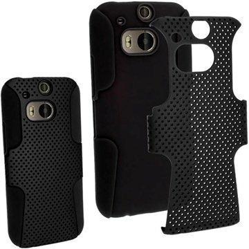 HTC One (M8) One (M8) Dual Sim iGadgitz Suojakuori Musta