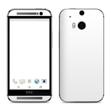 HTC One (M8) Solid State White Skin