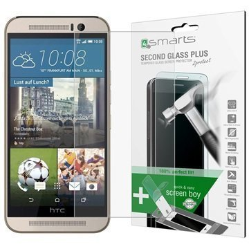 HTC One M9 4smarts Second Glass Plus Näytönsuoja