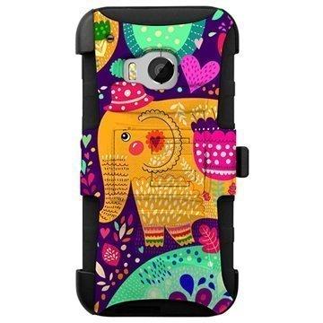 HTC One M9 Beyond Cell Armor Combo Design Kotelo Karnevaali Elefantti