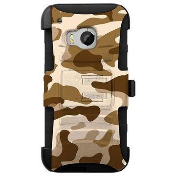 HTC One M9 Beyond Cell Armor Combo Design Kotelo Vihreä Suojaväri