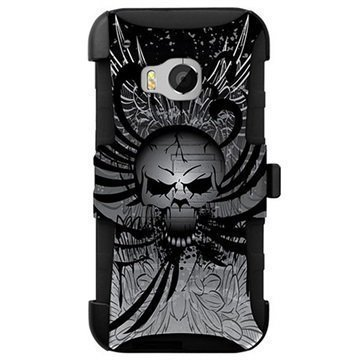 HTC One M9 Beyond Cell Armor Combo Design Suojakotelo Wing Skull