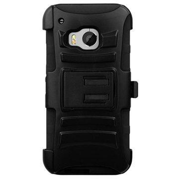 HTC One M9 Beyond Cell Armor Yhdistelmäkotelo Musta