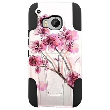 HTC One M9 Beyond Cell Hyber Shell Design Kotelo Cherry Blossom