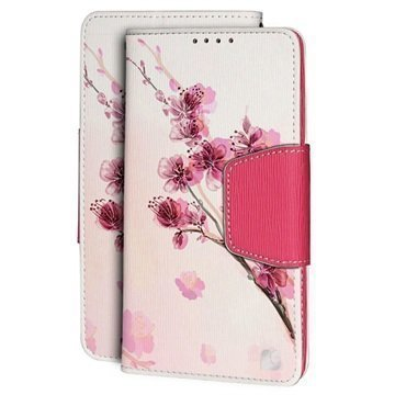 HTC One M9 Beyond Cell Infolio Design Lompakkokotelo Cherry Blossom