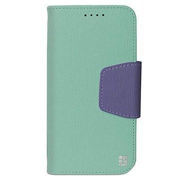 HTC One M9 Beyond Cell Infolio Lompakkokotelo Mint / Violetti