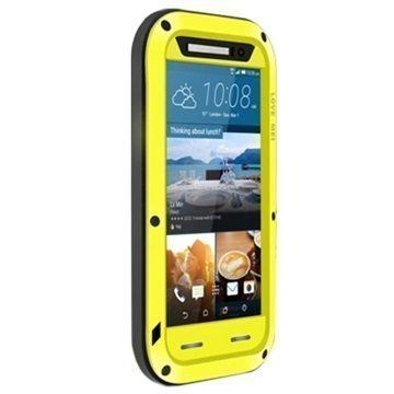 HTC One M9 Love Mei Powerful Hybrid Suojakuori Keltainen