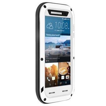 HTC One M9 Love Mei Powerful Hybrid Suojakuori Valkoinen