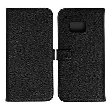 HTC One M9 Nevox Ordo Folio Kotelo Musta / Harmaa