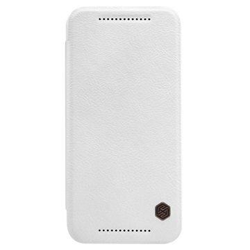 HTC One M9 Nillkin Qin Series Läppäkotelo Valkoinen