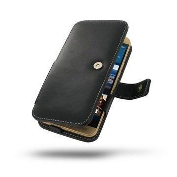 HTC One M9+ PDair Leather Case 3BHT9PB41 Musta