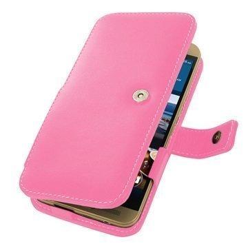 HTC One M9+ PDair Leather Case 3JHT9PB41 Vaaleanpunainen