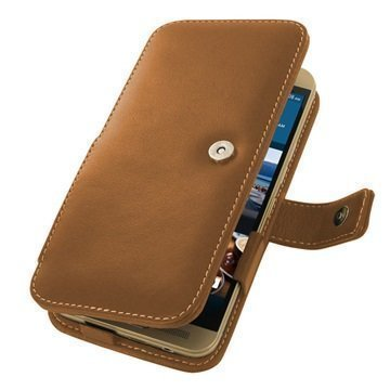 HTC One M9+ PDair Leather Case 3THT9PB41 Ruskea