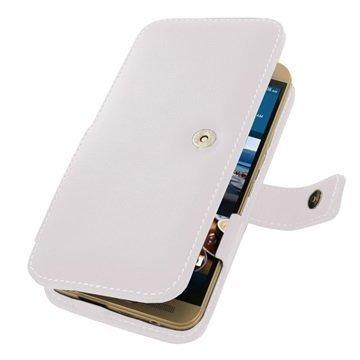 HTC One M9+ PDair Leather Case 3WHT9PB41 Valkoinen