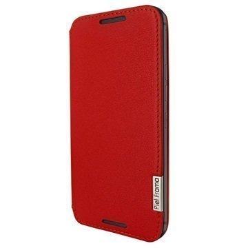 HTC One M9 Piel Frama Framaslim Nahkakotelo Punainen