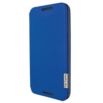 HTC One M9 Piel Frama Framaslim Nahkakotelo Sininen