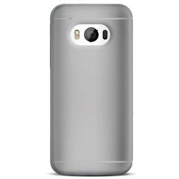 HTC One M9 Puro 0.3 Ultra Slim Silikonikotelo Musta