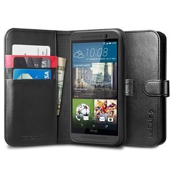HTC One M9 Spigen Lompakkokotelo Musta