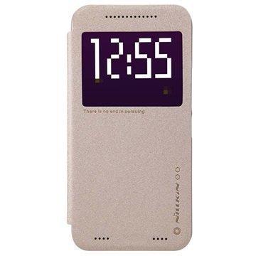 HTC One ME Nillkin Sparkle Series Smart View Läppäkotelo Kultainen