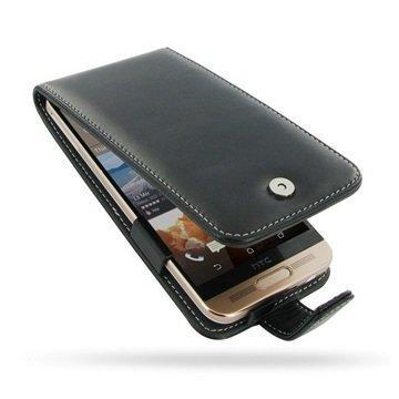 HTC One ME PDair Deluxe Nahkainen Läppäkotelo Musta