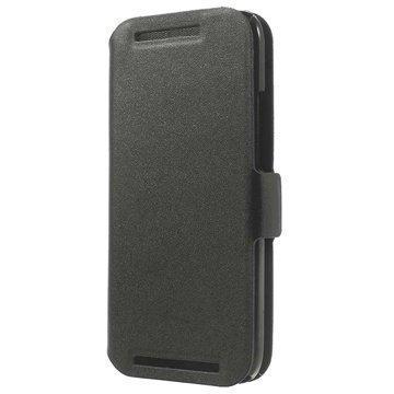 HTC One Mini 2 Doormoon Wallet Nahkakotelo Musta