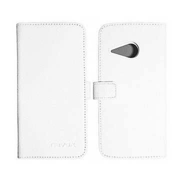 HTC One Mini 2 Nevox Ordo Folio Kotelo Valkoinen / Harmaa