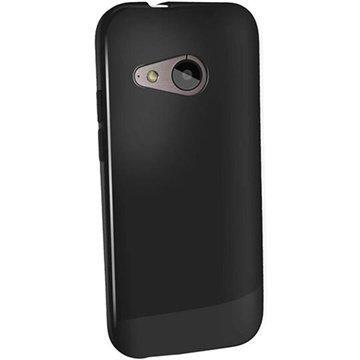 HTC One Mini 2 iGadgitz Kiiltävä TPU-Suojakotelo Musta
