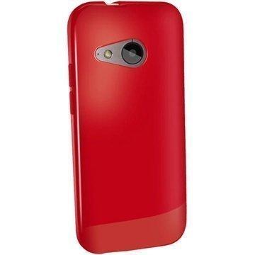 HTC One Mini 2 iGadgitz Kiiltävä TPU-Suojakotelo Punainen